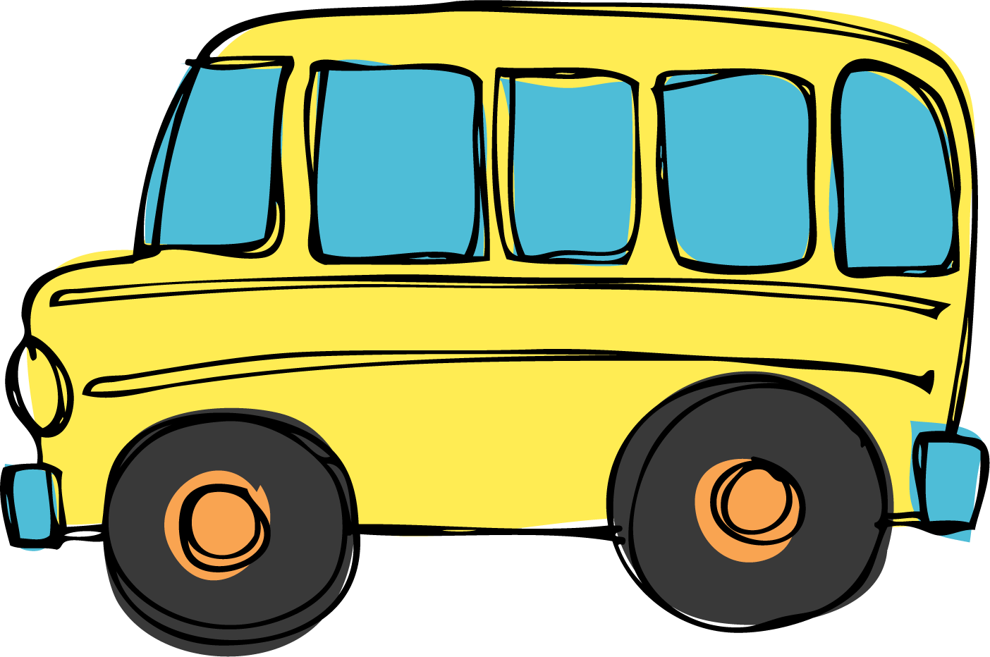 Yellow bus clipart free images