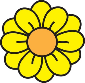 Yellow Daisy Flower Clipart #1
