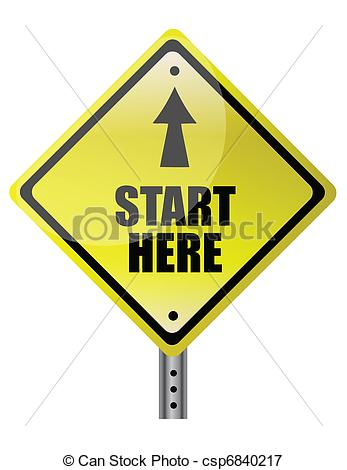 ... Yellow Diamond start here - Start Clip Art