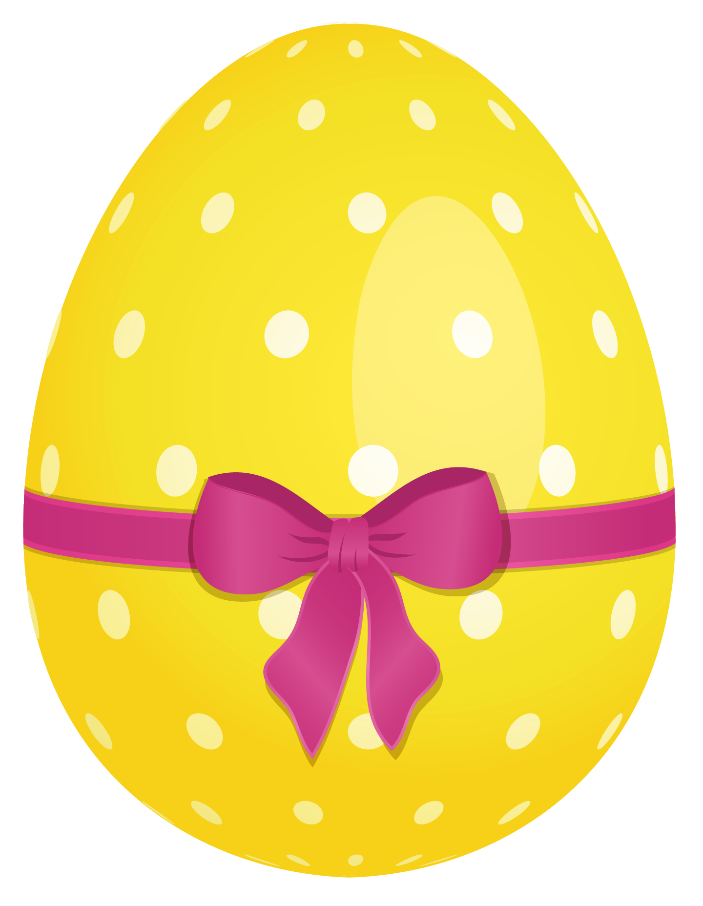 Yellow dotted easter egg with