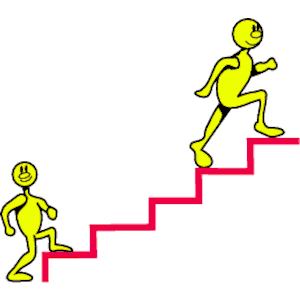 Yellow Dudes On Stairs Clipart Cliparts Of Yellow Dudes On Stairs