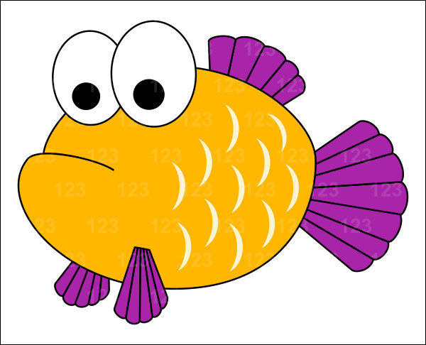 Yellow Fish Clipart