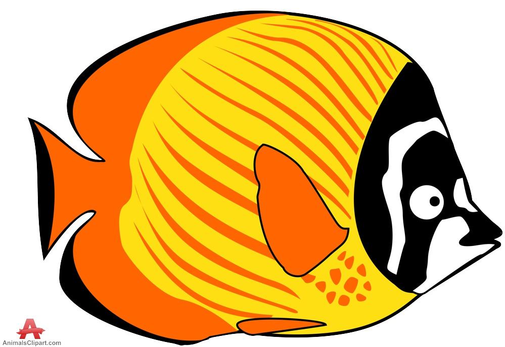 Yellow Fish Clipart Design .-Yellow Fish Clipart Design .-17