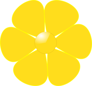 Yellow Flower Clip Art At Clker Com Vector Clip Art Online Royalty