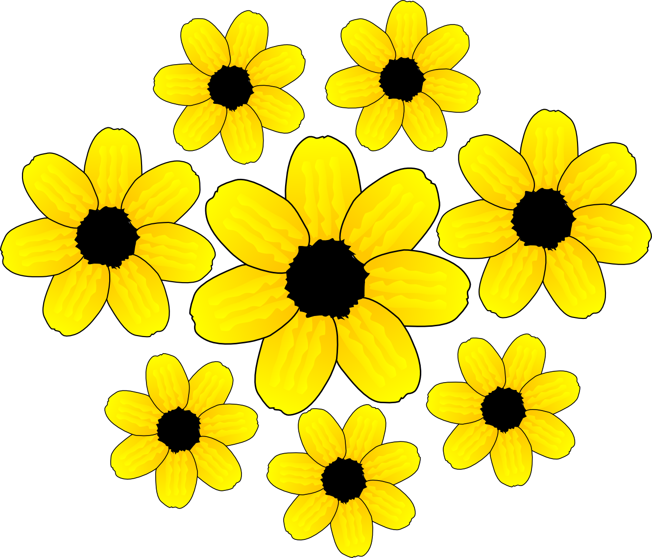 Yellow Flower Clip Art - ClipArt Best | -Yellow Flower Clip Art - ClipArt Best | clip art...gmk | Pinterest | The 3, Graphics and Changu0026#39;e 3-8
