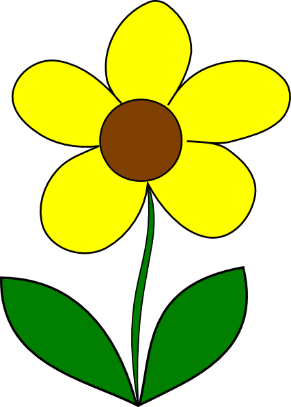 Yellow Flower Clip Art Png. PNG: small · medium · large
