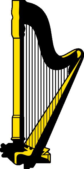 Yellow Harp Clipart - Harp Clipart