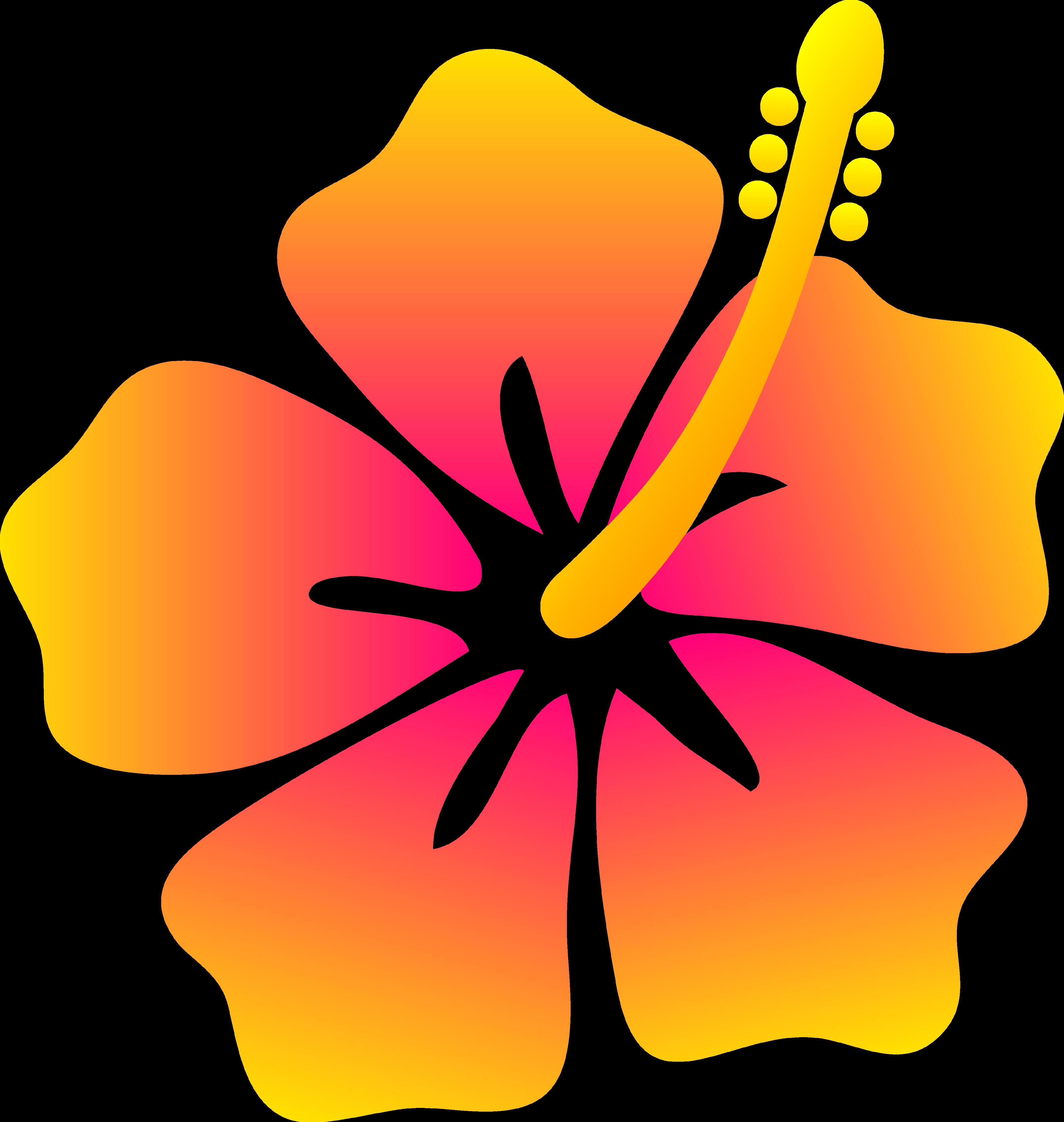 Yellow Hibiscus Flower Clip .