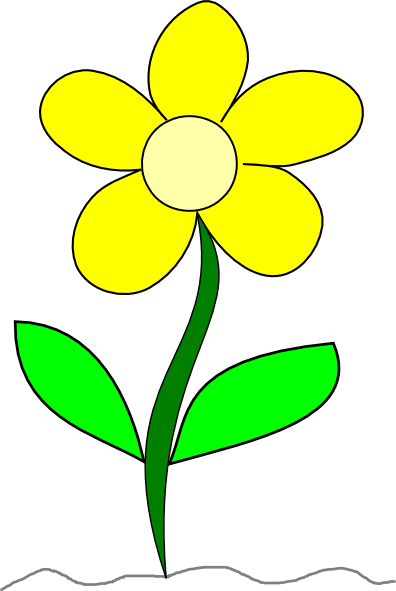 Yellow hibiscus flower clipart; Yellow Flower with Stem Clip Art u2013 Clipart Free Download ...
