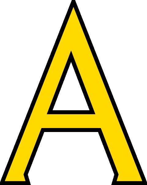 Yellow Letter A Clipart-Yellow Letter A Clipart-8