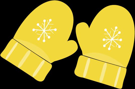 Yellow Mittens - Mittens Clip Art