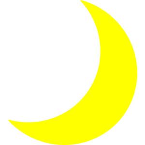 Yellow Moon Clip Art - Moon Clip Art