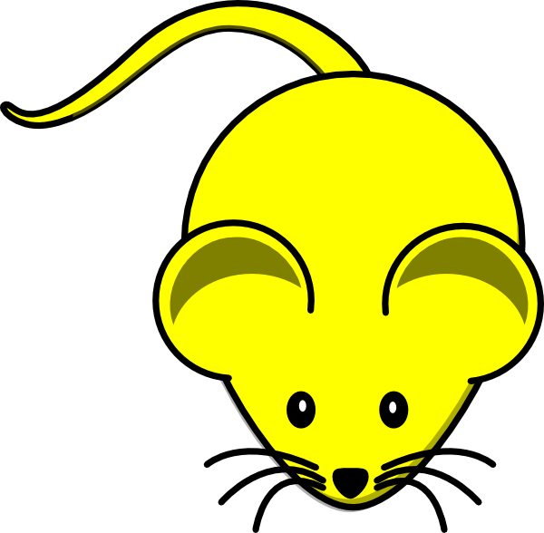 Yellow Mouse Graphic clip art .