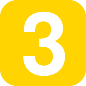 Yellow Number 3 clip art .