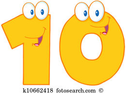 Yellow Number Ten - Number 10 Clipart