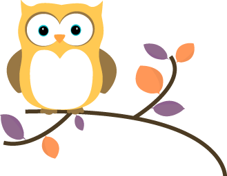 Yellow Owl on a Branch