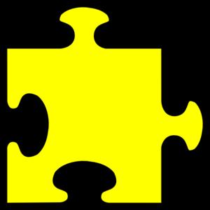 Yellow puzzle piece clip art .