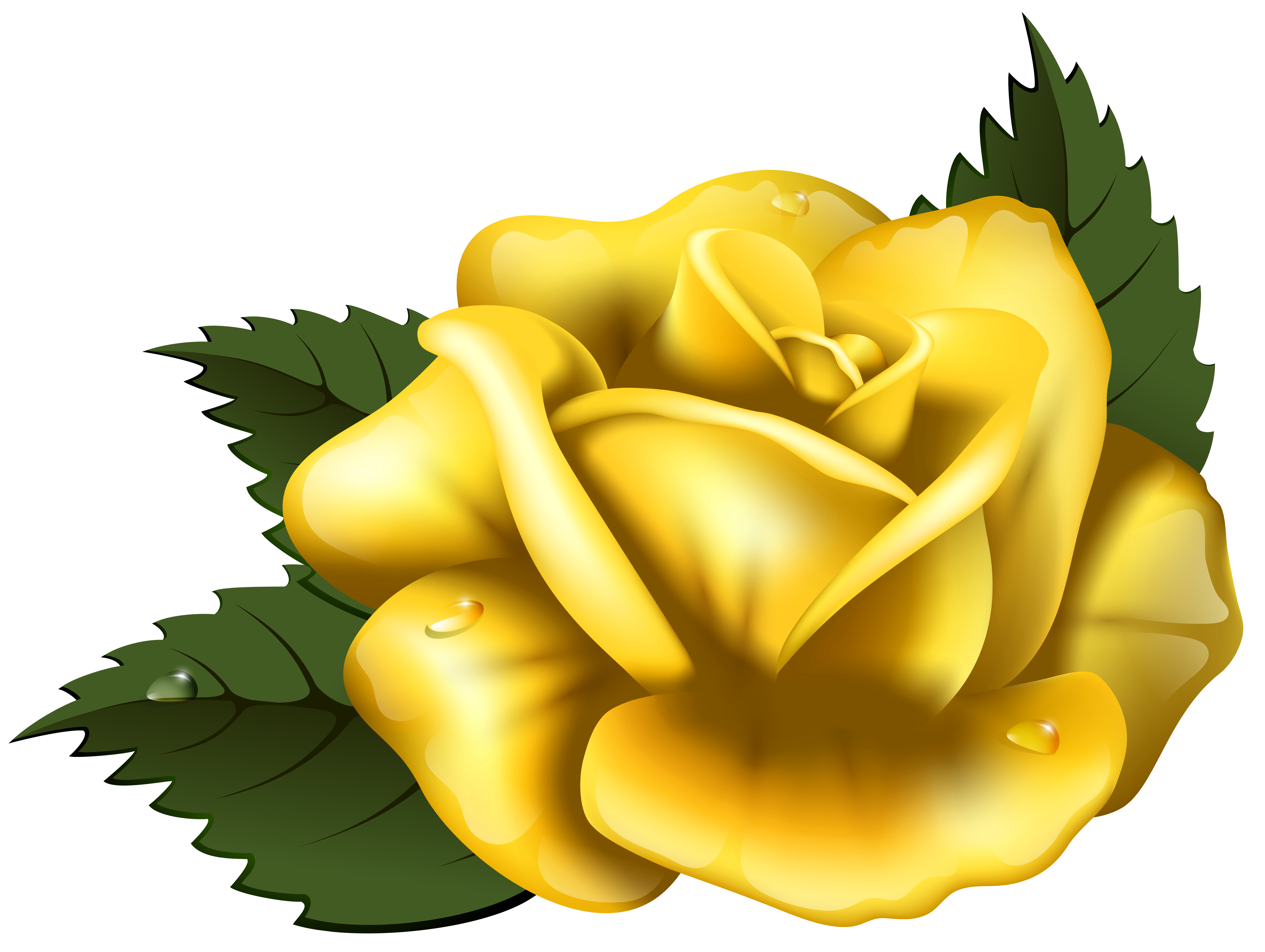 ... yellow rose clip art u201 - Yellow Rose Clipart