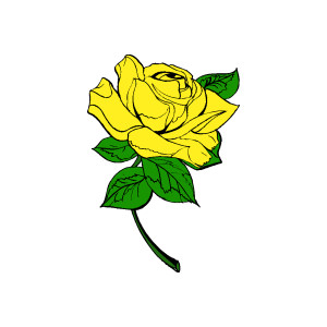 Yellow Rose Clip Art Free - Yellow Rose Clipart