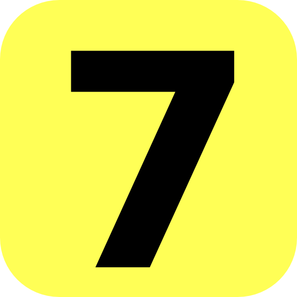 Yellow Rounded Number 7 Clip Art At Clke-Yellow Rounded Number 7 Clip Art At Clker Com Vector Clip Art Online-19