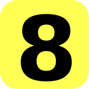 Yellow Rounded Number 8 Clip Art At Clker Com Vector Clip Art Online