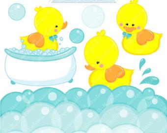 Yellow Rubber Duckie Cute Digital Clipar-Yellow Rubber Duckie Cute Digital Clipart - Commercial Use OK - Digital Rubber Duck Graphics - Yellow Duck Clipart-17