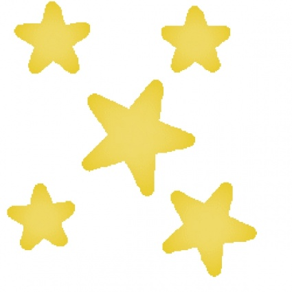 Yellow shooting stars clipart free clipart images