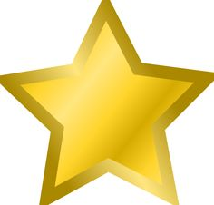 Yellow Star Clipart .