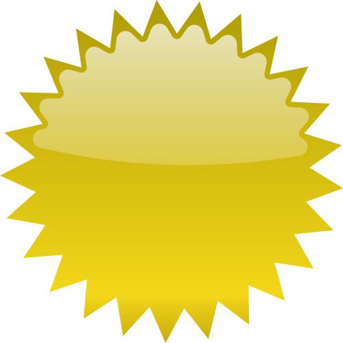 Yellow Starburst Clipart Image-Yellow starburst clipart image-14