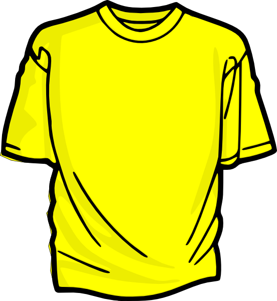 Yellow T Shirt Clip Art At Clker Com Vector Clip Art Online Royalty