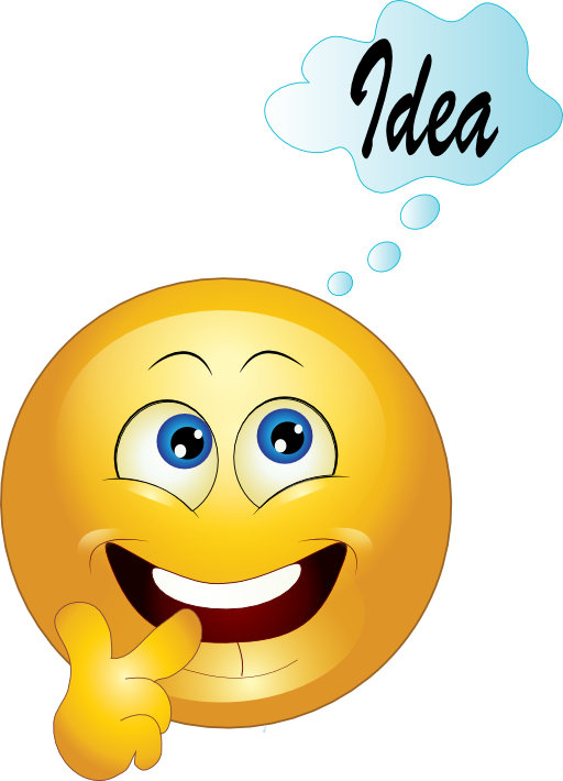 Yellow Thinking Smiley Emoticon Clipart Royalty Free