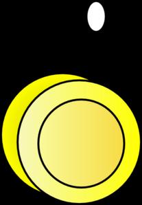 Yellow Yo-yo Clip Art