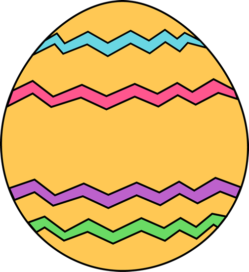 Yellow Zig Zag Easter Egg