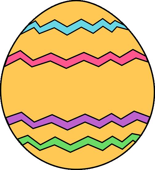 Yellow Zig Zag Easter Egg