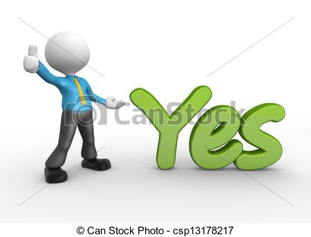 ... Yes - 3d people - man, person standi-... Yes - 3d people - man, person standing near to an yes icon. Yes Clipartby ...-15