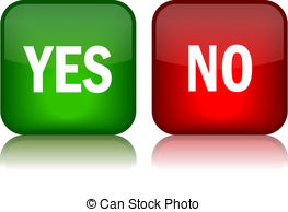 ... Yes and no vector buttons over white-... Yes and no vector buttons over white-18