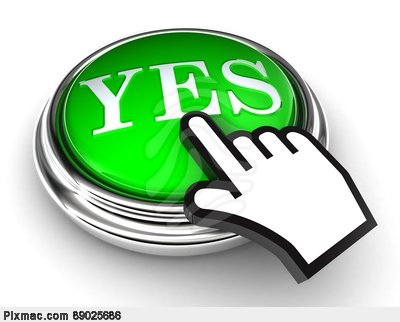 Yes Green Button And Pointer Hand Stock -Yes Green Button And Pointer Hand Stock Photo-4