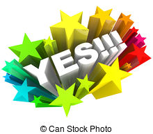 ... Yes Word and Stars - Agreement and E-... Yes Word and Stars - Agreement and Excitement - The word Yes.-9
