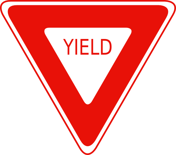 Yield Sign Clip Art At Clker Com Vector Clip Art Online Royalty