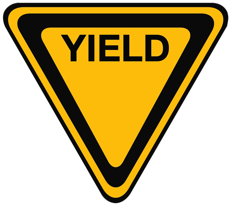 Yield Sign Color; Curvy Road