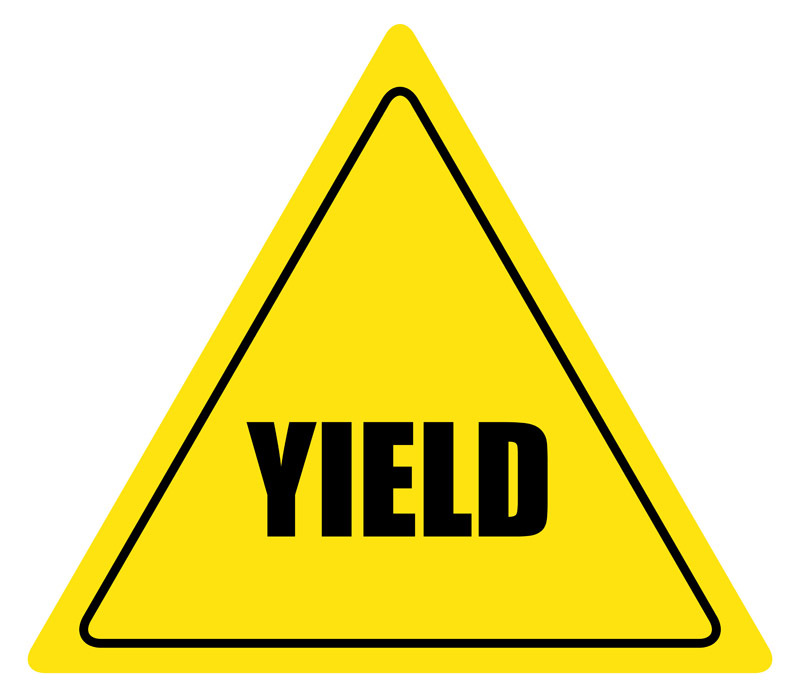 Yield Sign Color; Curvy Road  - Yield Sign Clip Art