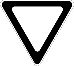 Yield Sign Vector Eps Clip Art