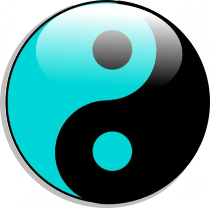 Yin Yang clip art Free vector in Open office drawing svg ( .svg