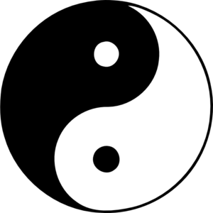 Yin Yang clip art - vector . - Yin Yang Clipart