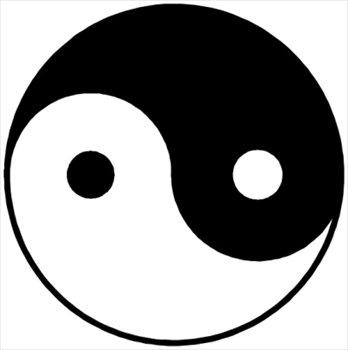 Yin Yang clip art - vector .