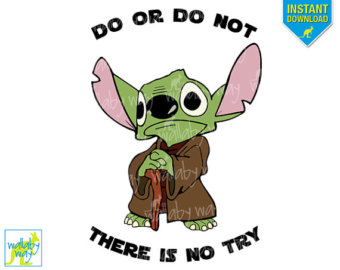 YODA Star Wars Printable Disney Iron On Transfer or Use as Clip Art - DIY Disney Star Wars Shirt - Perfect for Star Wars Marathon or Weekend
