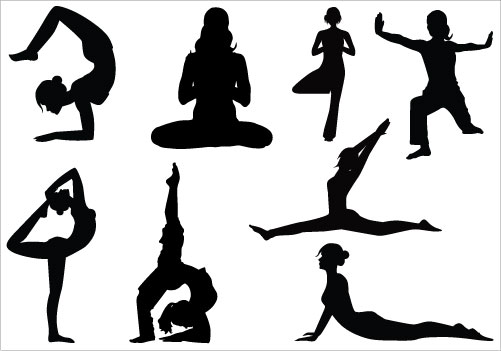 Yoga Clip Art Pack Silhouette Clip Artsi-Yoga Clip Art Pack Silhouette Clip Artsilhouette Clip Art-9