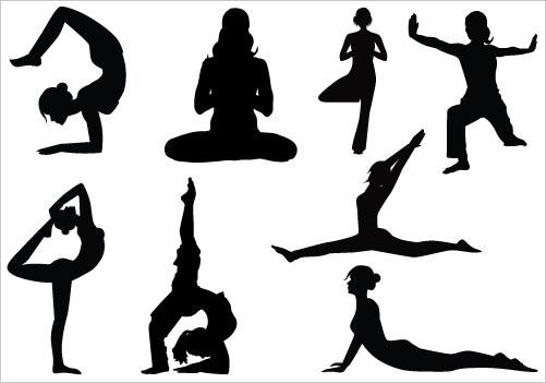 Yoga clip art vector yoga graphics image