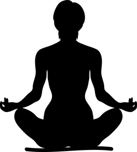 Yoga clipart image clip art silhouette of a fit woman sitting