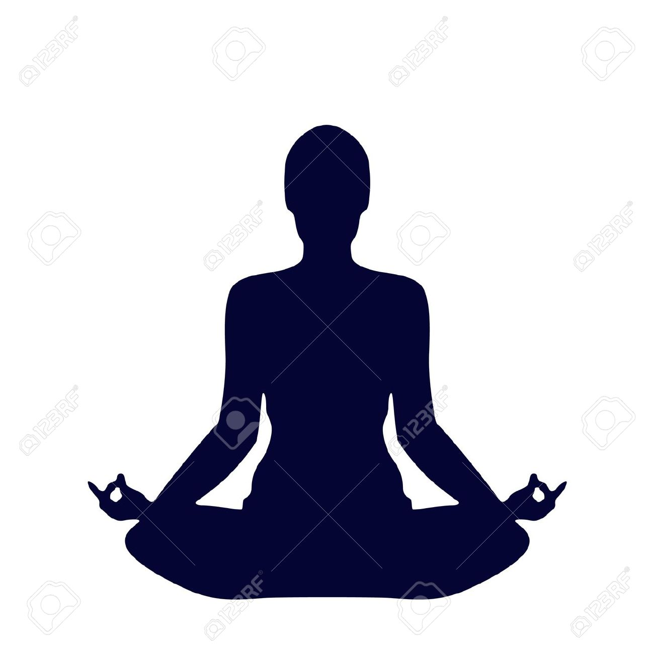 yoga silhouette: Pose Yoga .